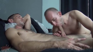Trit Tyler finds a huge cock to suck