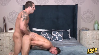 joey rides teddy's fat uncut cock