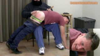 jared goes over daddy's knee for a spanking