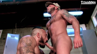 scruffy-faced marines jack off together and more