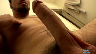 sexy latino thug in bandanna stroking his boner