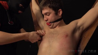 kail is gagged, bound, and flogged