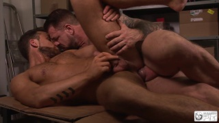 rocco steele shoves his jumbo cock in logan moore