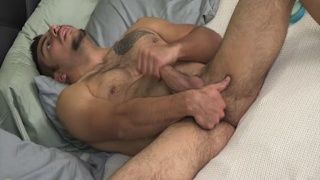 javier likes playing with his hole while beating off