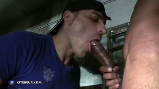he wants this black stud's massive dick up his man-cunt