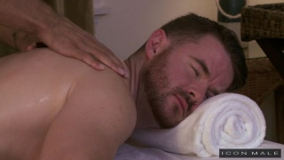 Brendan Patrick fucks Brock Avery on massage table