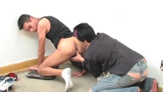 Javier & Fernando suck each other's uncut cocks