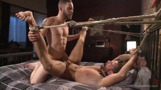 wolf hudson dominates brendan patrick's ass