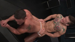 Ryan Rose bottoms for Sebastian Kross in jockstrap