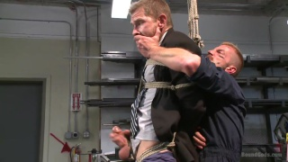 nasty daddy uses a man in his own machine shop
