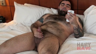 bear cub cruising for sex and jacking his dick