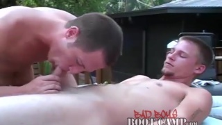 outdoor massage leads to horny head session