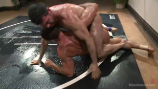 loser wrestling forced to lick cum off the mats
