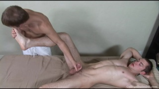 Massage and blowjob college boys