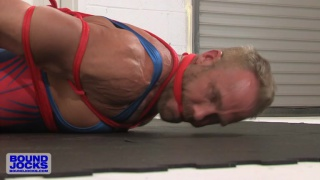 dallas steele in singlet tied with rope