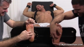 Muscle Stud Tony Tied up and Tickled