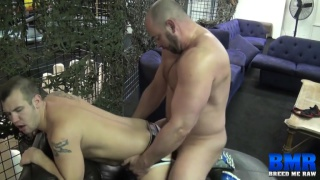 jockstrap bottom takes raw daddy dick