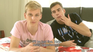 geeky blond guy does his first BB video
