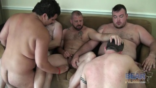 6 horny bears banging in hotel room