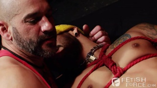 draven torres gets a bound blowjob