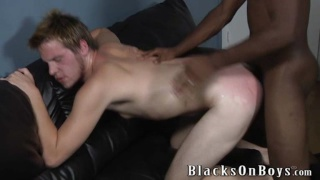 black top slapping and fucking white boy's ass
