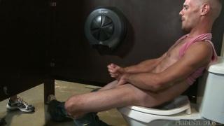 Brett Bradley stroking his very big penis