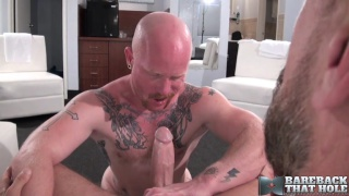 ginger bottom brock rustin takes rocco steele's monster cock