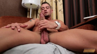 Cody Cummings strokes his big cock