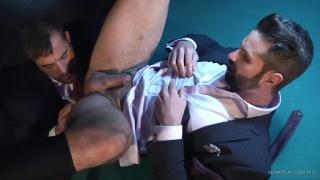Isaac Eliad fucks and Dani Robles on billiards table