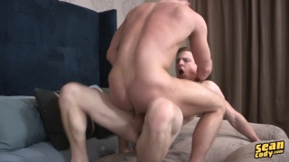 blond guy ride ginger's big dick