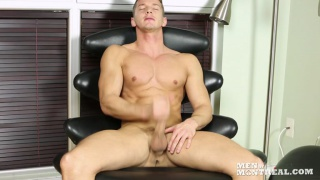Darius Ferdynand jacks his big uncut cock