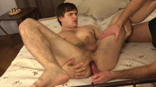 Alan gets finger fucked while he masturbates