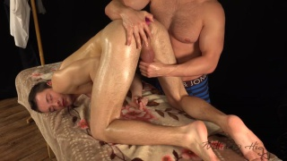 sexy john gets some ass play during his massage