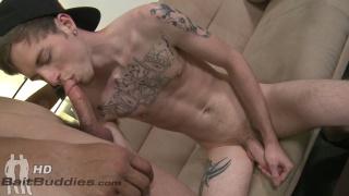 straight dude lets gay guy suck his cock