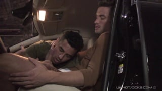 spanish studs fuck in and on their car