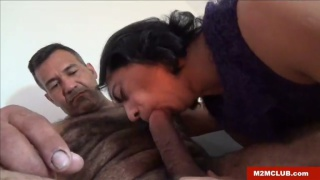 latin painter makes extra cash getting a blowjob
