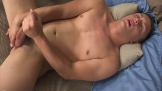 college gymnast charlie strokes his dick