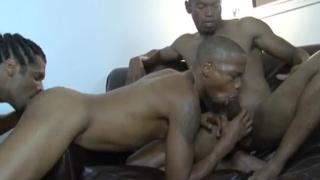 2 hung black tops screwing a raw bottom
