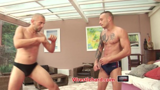 ripped euro studs wrestle and fuck