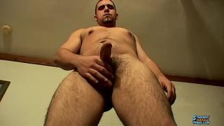 straight chunky stud strokes his boner