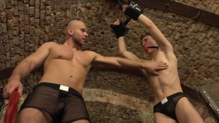 marek trains a new cute slave boy