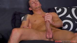 muscle boy trevor jacks his big dick