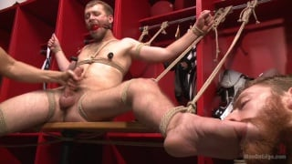 Nathan Martin cums twice in his edging session