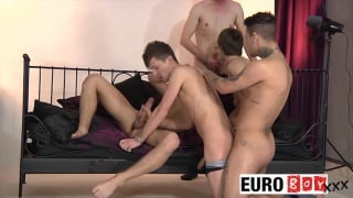 5 boys, 5 Big Uncut Cocks, 1 Bed