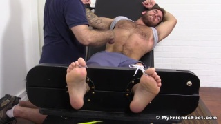 muscle hunk Chase lachance gets tickled