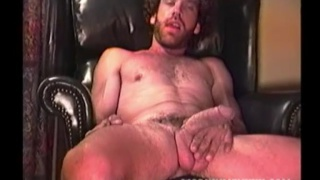 scruffy redneck jacks his huge cock