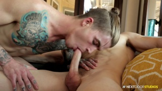 dude with a man bun does his porno audition