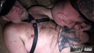 buster plays with daddy's thick pendulous meat