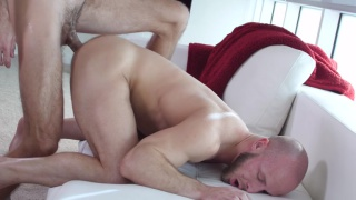 bald hunk bjorn manning gets fucked in casting session