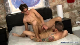 ross drake rides AJ alexander in a crab position